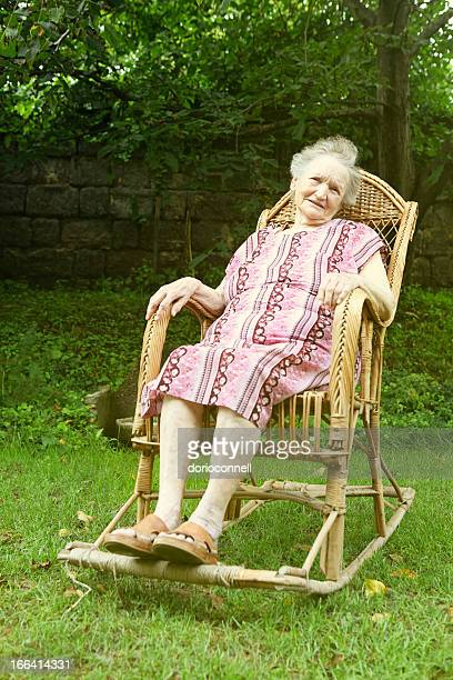 old woman rocking chair stock fotos und bilder getty images. Black Bedroom Furniture Sets. Home Design Ideas