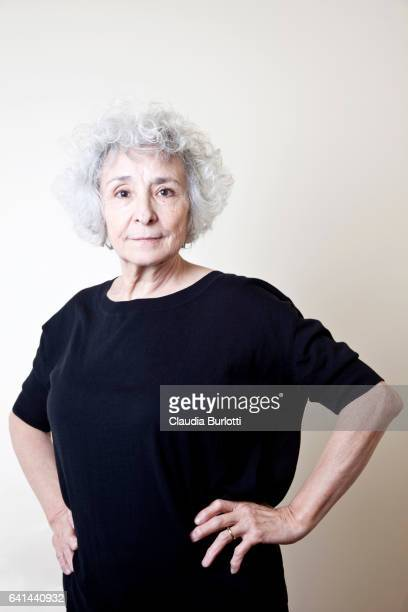 old lady looking confident - medium length hair stock pictures, royalty-free photos & images