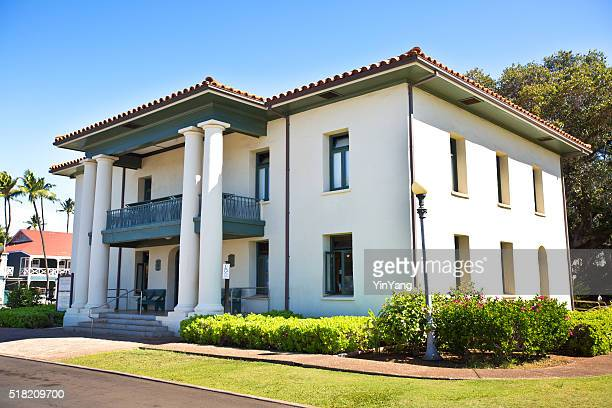 old lahaina courthouse museum, maui hawaii, usa - lahaina stock pictures, royalty-free photos & images