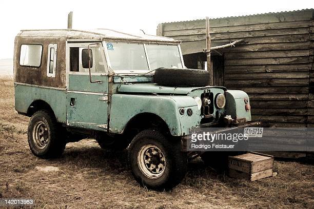 Old Land Rover Series I Defender maybe around 19481958 At Cabo Polonio Beach Uruguay March 2011
