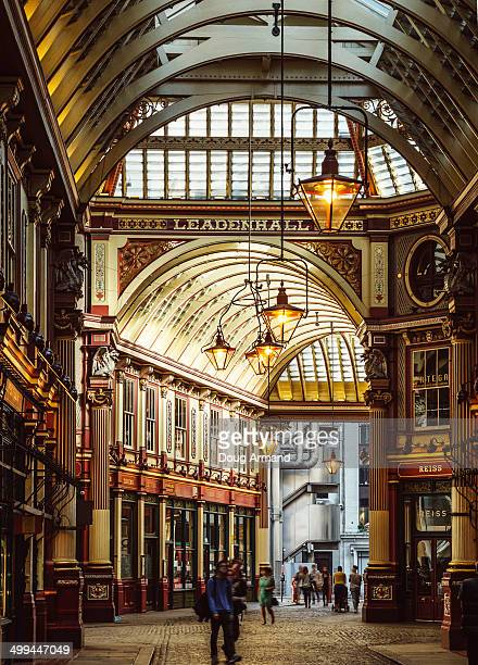old leadenhall market, london - leadenhall market stock pictures, royalty-free photos & images