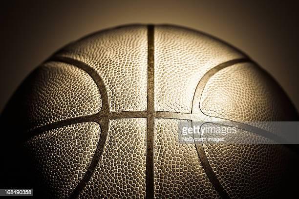 Old cuero de baloncesto