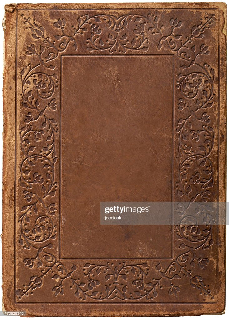Book Cover Stock Art : Old leather book cover background stock photo getty images