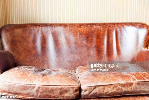 World S Best Worn Leather Sofa Stock Pictures Photos And