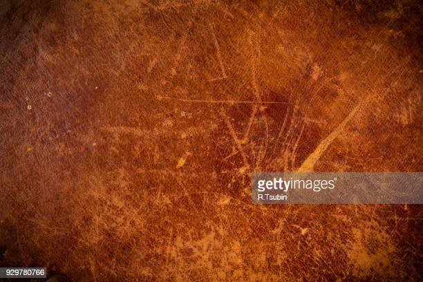 old leather texture with dark edges - mottled skin stock pictures, royalty-free photos & images