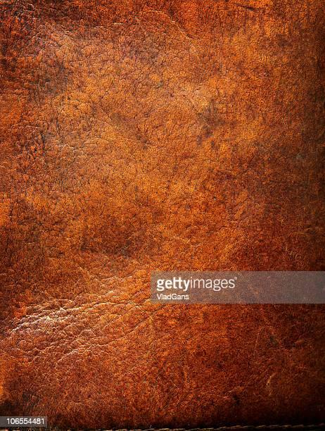 Vieux cuir avec eges usé