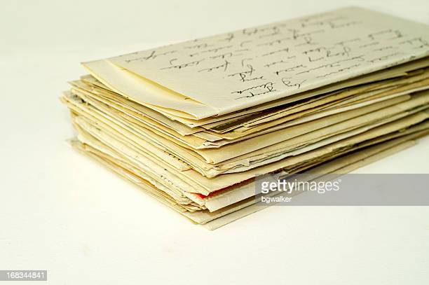 old letters - love letter stock photos and pictures
