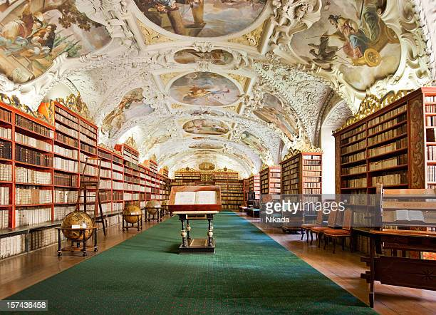 old library in the prague - history stock pictures, royalty-free photos & images