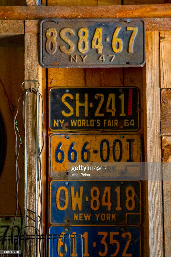 Old License Plates Stock Photo | Getty Images
