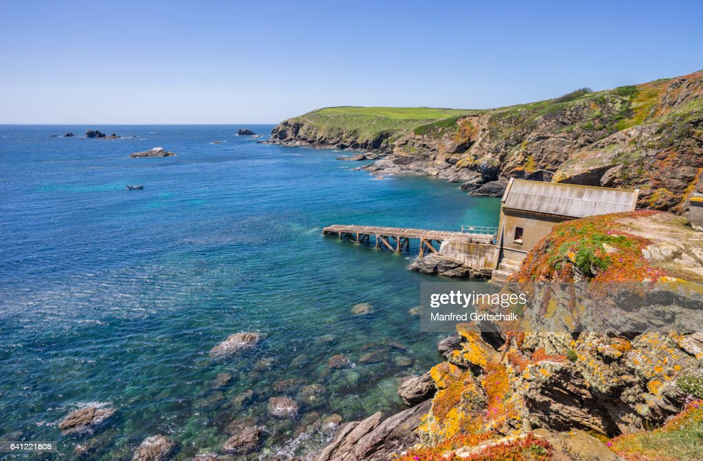 Old Lifeboat Station Lizard Point Stock Photo | Getty Images