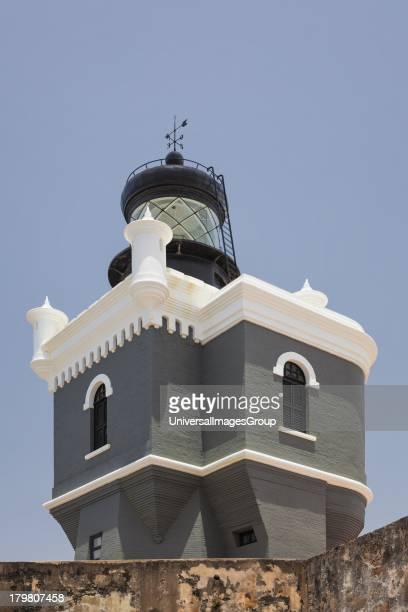 Old lighthouse Castillo San Felipe del Morro San Juan National Historic Site a national park in Old San Juan Puerto Rico