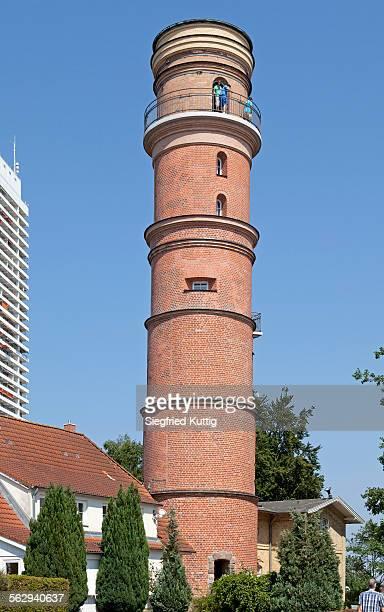 old lighthouse, travemunde, schleswig-holstein, germany - travemünde stock photos and pictures