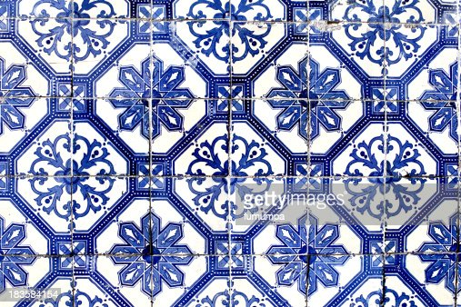 alte fliesen aus lissabon azulejo stock foto getty images. Black Bedroom Furniture Sets. Home Design Ideas