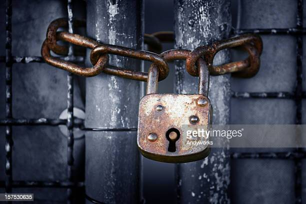 Old Lock And Chain