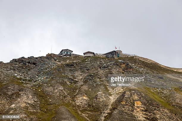 Old lodges are seen near the Grossglockner high alpine road on September 23 near Zell am See Austria The Grossglockner high alpine road is the...