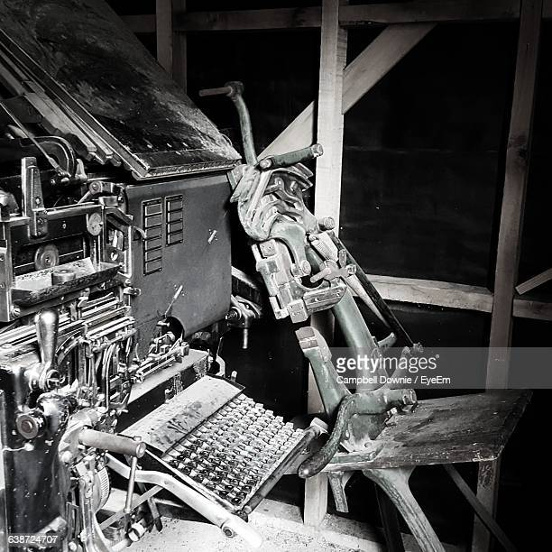 old machine in factory - campbell downie stock pictures, royalty-free photos & images