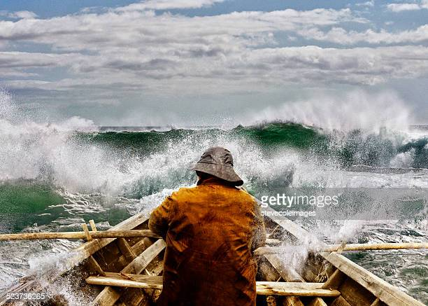 old man and the sea in a skiff - sailor stock pictures, royalty-free photos & images