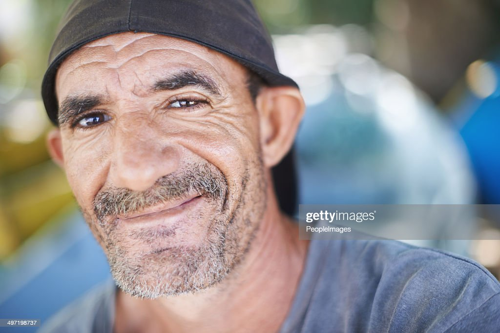 Old man and the sea : Stock Photo