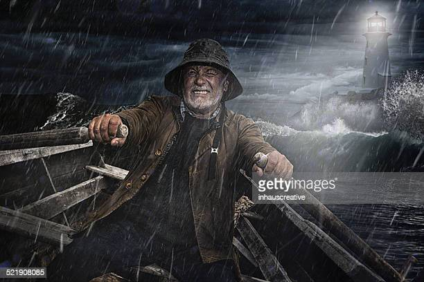 old man and the sea - storm stock pictures, royalty-free photos & images