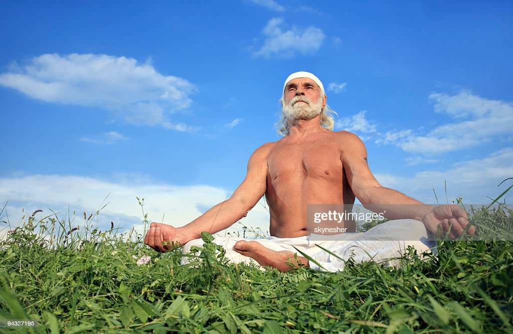 Image result for old man meditating