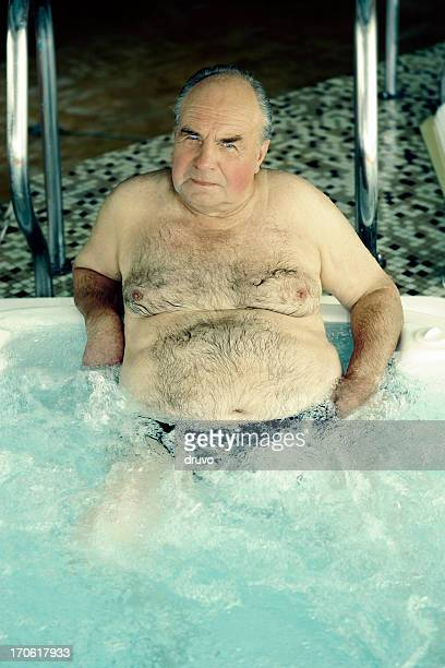 old man in bubble bath - hairy old man stock pictures, royalty-free photos & images