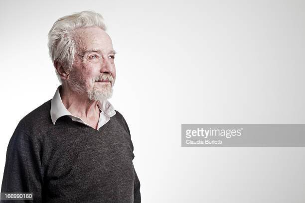 old man looking the future - one man only stock pictures, royalty-free photos & images