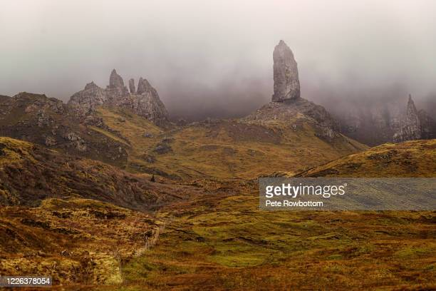old man of storr - rock formation stock pictures, royalty-free photos & images