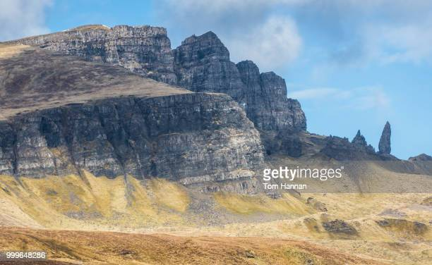 old man of storr - escarpment stock pictures, royalty-free photos & images