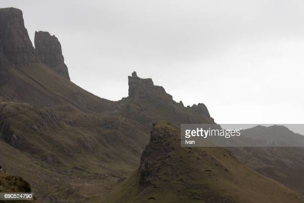 Old Man of Storr, Skye, Highland region in clouds, Scotland