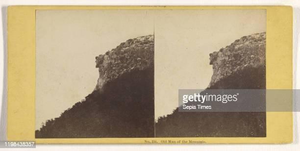 Old Man of the Mountain John P Soule about 1861 Albumen silver print