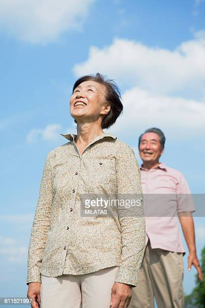 Old man of the smile of Japanese