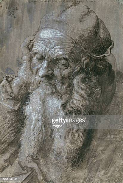 Old Man Study for a saint Brush drawing on brown paper [Alter Mann Studie fuer einen Heiligen Zeichnung auf braunem Papier 1521]