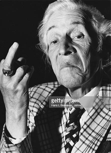 Old Man with Raised Finger