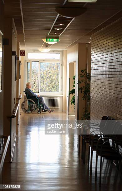 old man with wheel chair