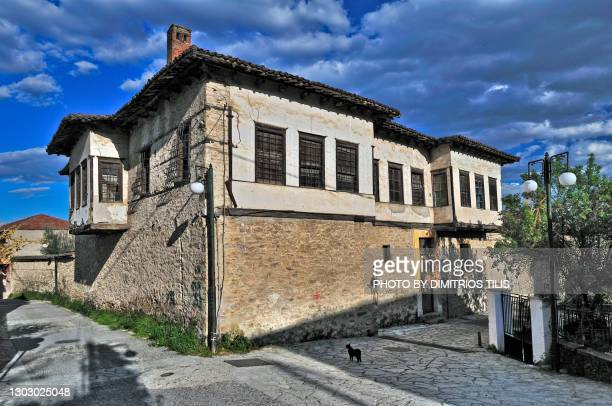 old mansion house at varousi trikala greece (hellas) - dimitrios tilis stock pictures, royalty-free photos & images