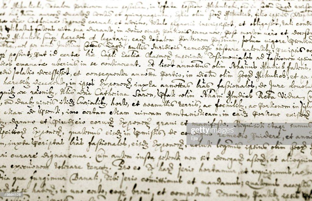Manuscrito antigo : Foto de stock