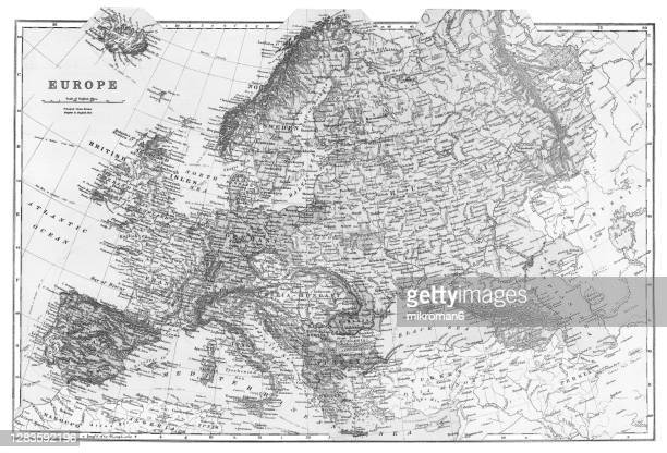 old map of europe continent - europe stock pictures, royalty-free photos & images