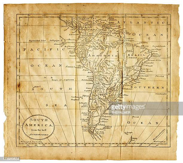 old map of south america