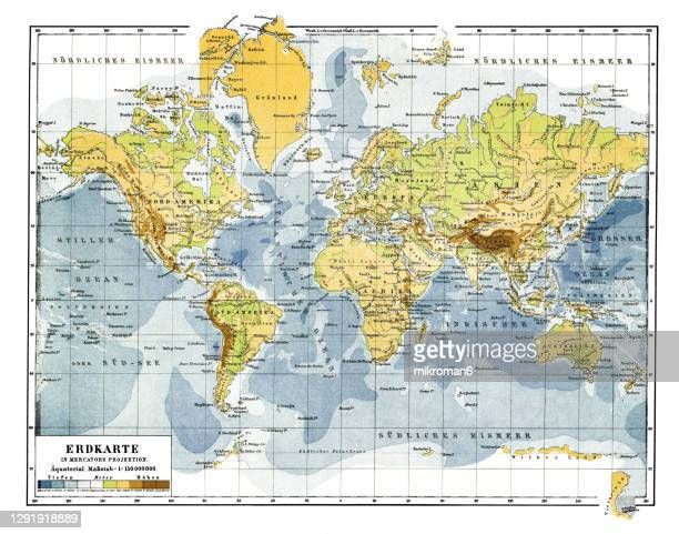 old map of the world map - world map stock pictures, royalty-free photos & images