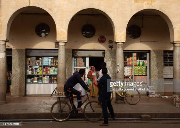 Old market from the italian colonial times, Central region, Asmara, Eritrea on August 21, 2019 in Asmara, Eritrea.