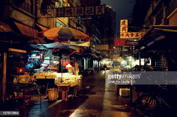Old market in Hong Kong.