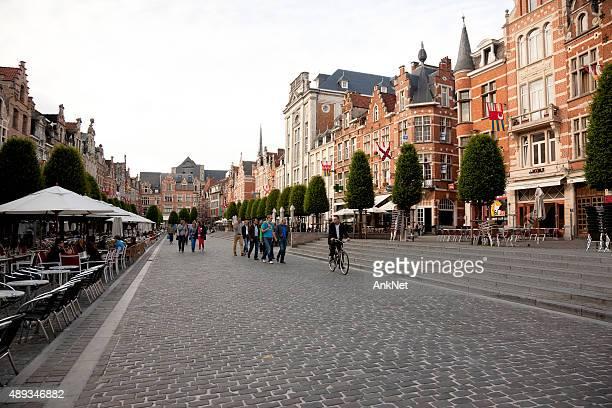 Old Market Square in Leuven, Flemish Brabant, Belgium
