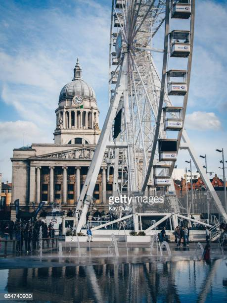 old market square, nottingham - nottingham stock photos and pictures