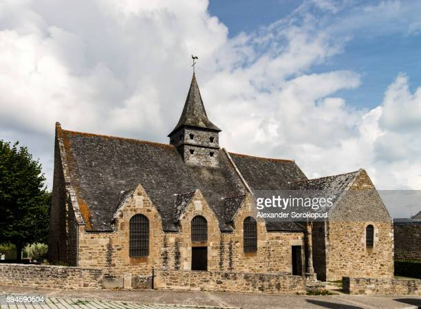 Old medieval church in little french village, France