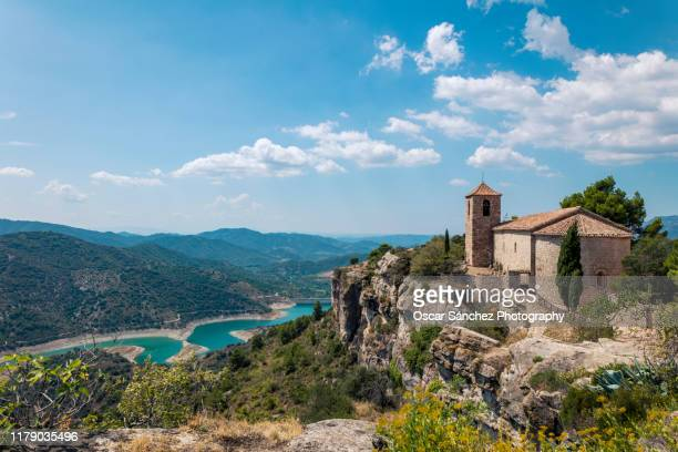 old medieval church - spain stock pictures, royalty-free photos & images