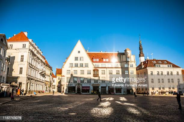 old medieval town hall square - town hall square stock pictures, royalty-free photos & images