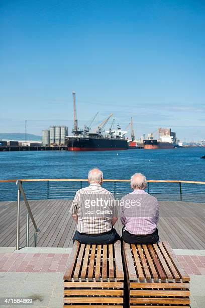 Old men and the sea in Belfast, Northern Ireland