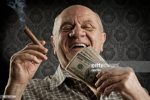 old men - rich old man stock photos and pictures