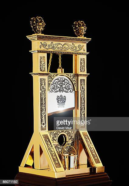 old metal guillotine - guillotine stock photos and pictures