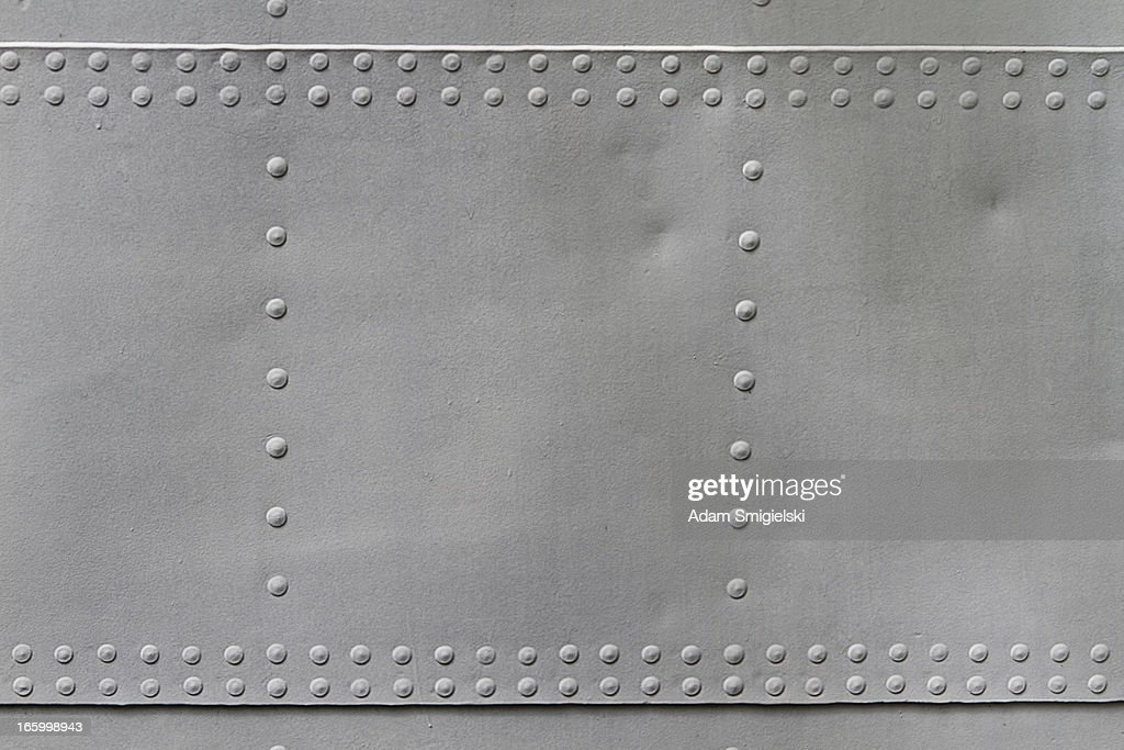 old metal texture with rivets : Stock Photo